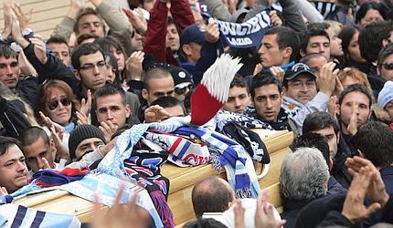 "Ultras Samb ai funerali di Gabriele ""Gabbo"" Sandri"