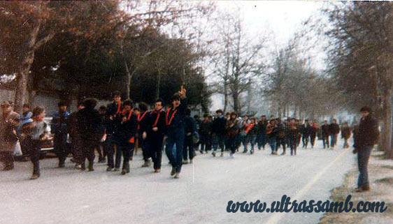 Ultras Samb in corteo a cesena 1984
