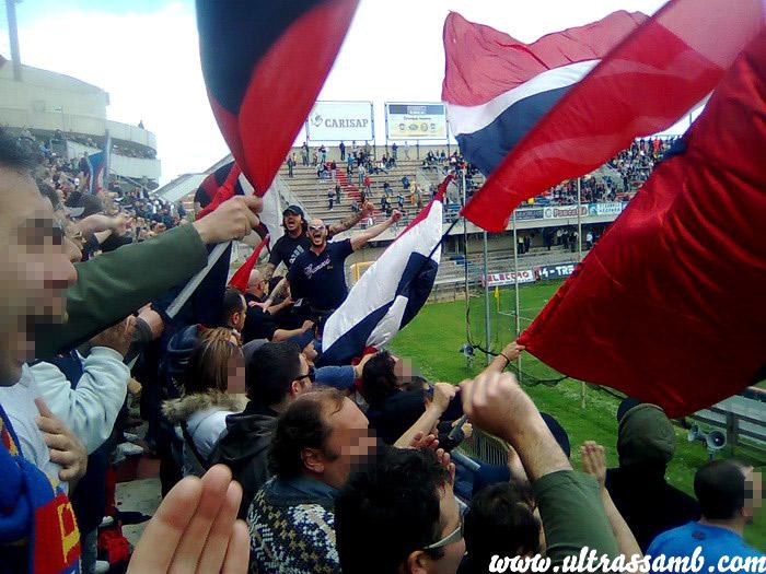 Samb - Legnano 1-0 in Curva Nord