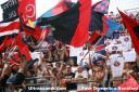 Samb - Reggiana: bandiere al vento in Curva Nord Massimo Cioffi